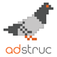 Normal adstruc logo bird on top