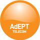 Normal adept telecom plc logo